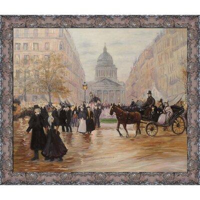 Boulevard Saint-Michel by Jean Francois Raffaelli Framed Painting JFR2777-FR-349211220X24