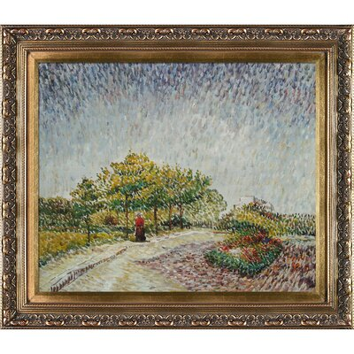 Lane in the Argenson Park at Asnieres Spring by Vincent Van Gogh Framed Painting VG3342-FR-215320X24