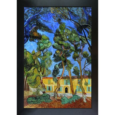 Trees in the Garden of St. Paul Hospital by Vincent Van Gogh Framed Painting VG3133-FR-137B24X36