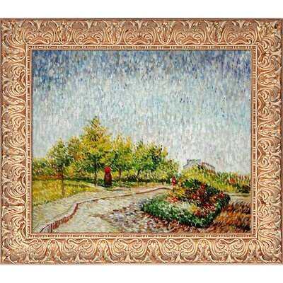 Lane in the Argenson Park at Asnieres Spring by Vincent Van Gogh Framed Painting VG3342-FR-932820X24