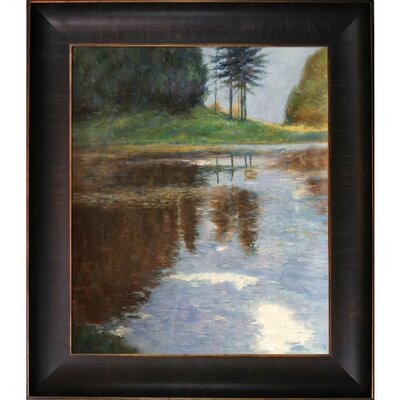 Quiet Pond in the Park of Appeal by Gustav Klimt Framed Painting KL3413-FR-939320X24