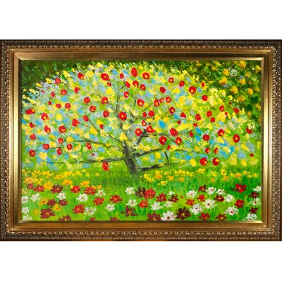 The Apple Tree by Gustav Klimt Framed Painting KL2992-FR-7870G24X36