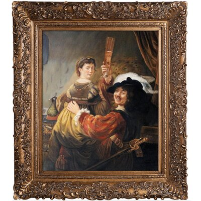 Rembrandt and Saskia in the Parable of the Prodigal Son by Rembrandt van Rijn Framed Painting REM3255-FR-256G20X24