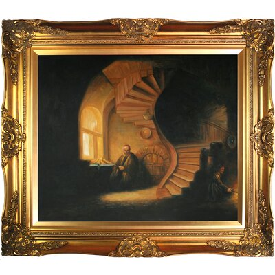 The Philosopher in Meditation by Rembrandt van Rijn Framed Painting REM3254-FR-6996G20X24