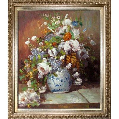'Grande Vase Di Fiori' by Pierre-Auguste Renoir Framed Painting
