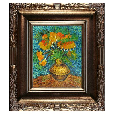 Crown Imperial Fritillaries' by Vincent Van Gogh Framed Painting VG2255-FR-608G8X10