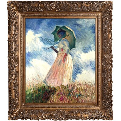 Woman with a Parasol by Claude Monet Framed Painting Print NPO892-GS-367H31Y35