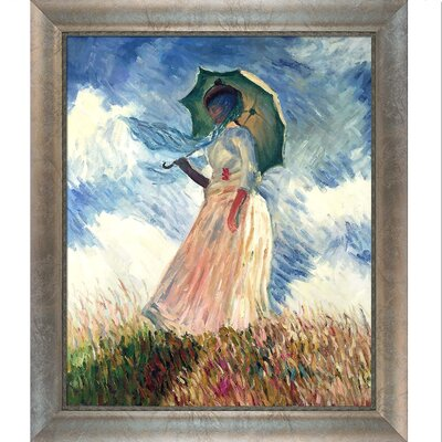 Woman with a Parasol by Claude Monet Framed Painting Print NPO892-GS-095031Y35