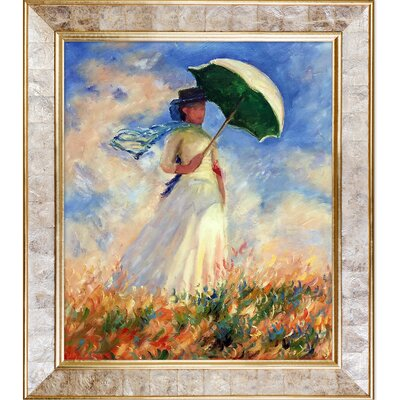 Woman with a Parasol by Claude Monet Framed Painting Print NPO893-GS-21631131Y35