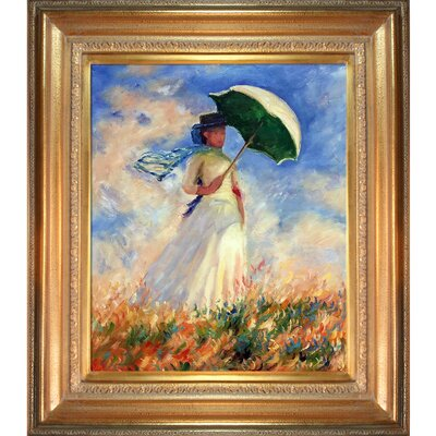 Woman with a Parasol by Claude Monet Framed Painting Print NPO893-GS-557H31Y35