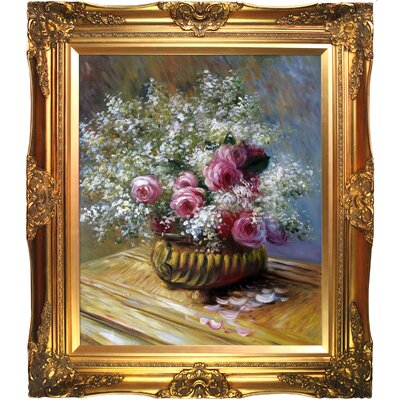 'Flowers in a Pot' by Claude Monet Framed Painting Print