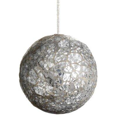 Mirror Beaded Glass Ball Christmas Ornament