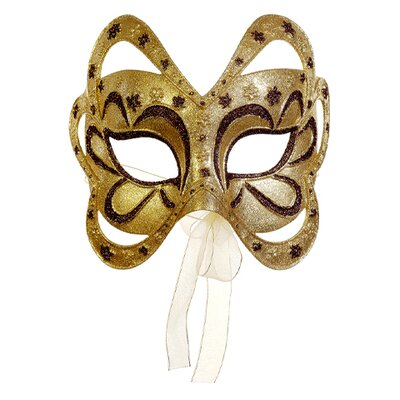 Tori Home Glittered Floral Masquerade Mask Christmas Ornament XN2130-GO/BZ