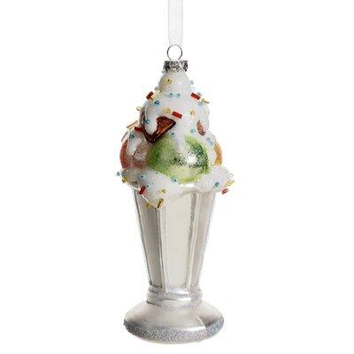 Glitter Ice Cream Sundae with Sprinkles Glass Christmas Ornament XGM405-SI/MT