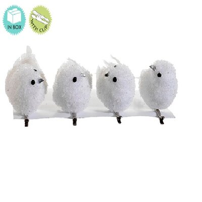 Snow Drift White Bird Clip On Christmas Ornaments 5