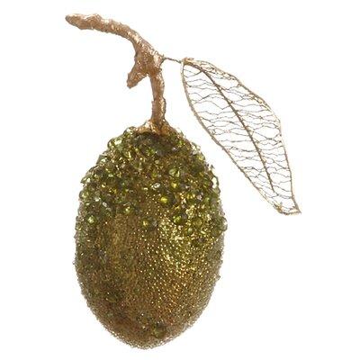 Sugared Fruit Glitzy Beaded Christmas Ornament