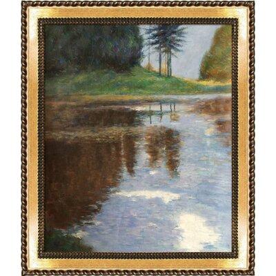 Quiet Pond in The Park of Appeal by Gustav Klimt Framed Original Painting