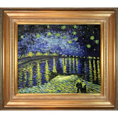 Starry Night Over The Rhone' by Vincent Van Gogh Framed Painting VG516-FR-446G20X24