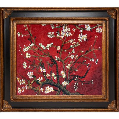 'Branches of an Almond Tree in Blossom' by Vincent Van Gogh Framed Painting