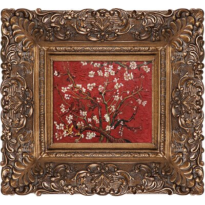'Branches of an Almond Tree in Blossom' by Vincent Van Gogh Rectangle Framed Painting