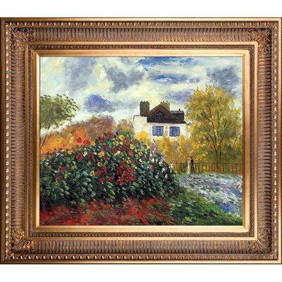 'The Artist's Garden' by Claude Monet Framed Painting FDLL6013 42520997