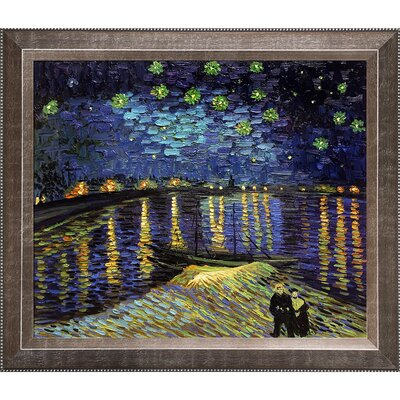 'Starry Night Over the Rhone' by Vincent Van Gogh Framed Original Painting VG516-FR-8070620X24