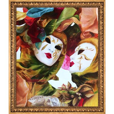 'Venice Carnival' by Natalya Marinych Framed Painting Print