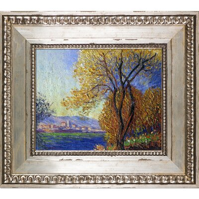 'Antibes, View of Salis' by Claude Monet Framed Oil Painting Print on Canvas