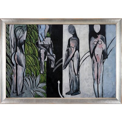 'Bathers by a River' by Henri Matisse Framed Oil Painting Print on Canvas