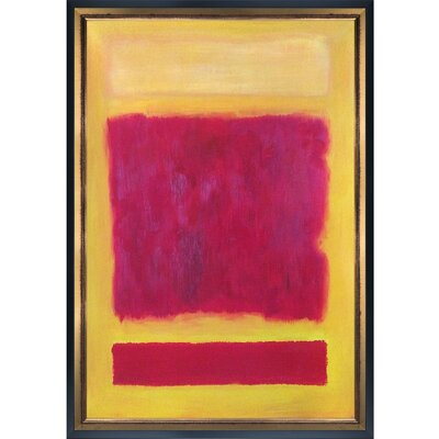 'Composition, 1958' by Mark Rothko Framed Oil Painting Print on Canvas
