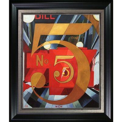 'I Saw the Figure 5 in Gold' Framed Oil Painting Print on Canvas