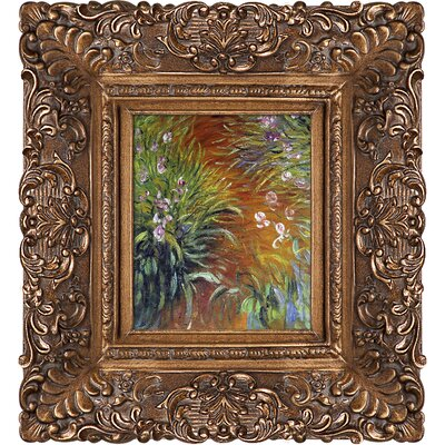 'Irises' by Claude Monet Framed Oil Painting Print on Canvas