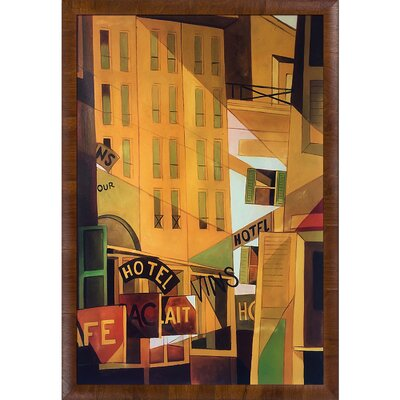 'Hotel' Framed Oil Painting Print on Canvas