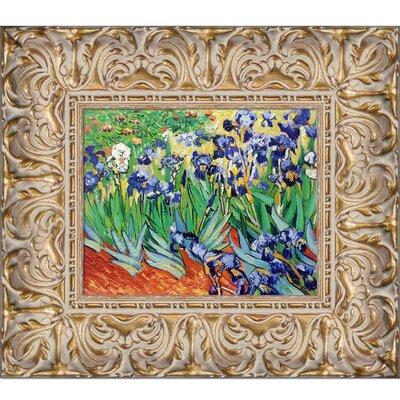 'Irises' Framed Oil Painting Print on Canvas