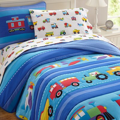 Olive Kids Trains, Planes and Trucks Comforter Set Size: Twin