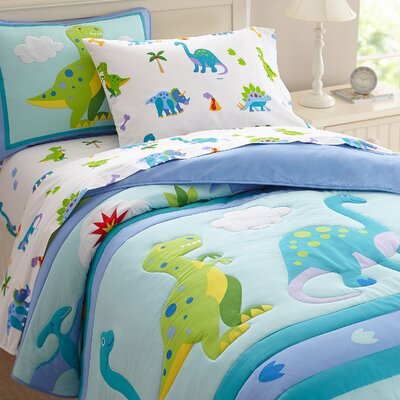 Olive Kids Dinosaur Land Comforter Set Size: Twin