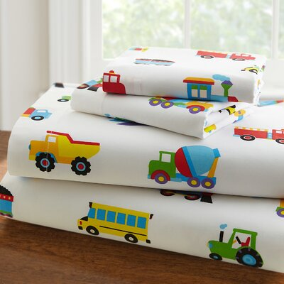 Olive Kids 210 Thread Count Trains, Planes and Trucks Sheet Set Size: Full