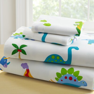 Olive Kids 210 Thread Count Dinosaur Land Sheet Set Size: Full