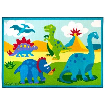 Olive Kids Dinosaur Land Area Rug Rug Size: 33 x 410