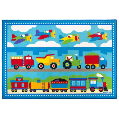 Olive Kids Trains, Planes, Trucks  Area Rug Rug Size: 33 x 410