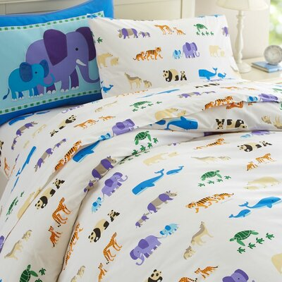 Olive Kids Endangered Animals Duvet Cover Size: Full