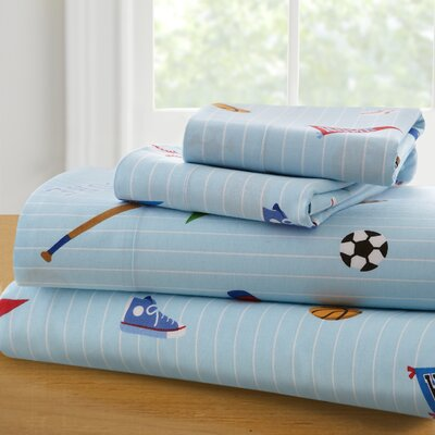 Olive Kids Game On 210 Thread Count 100% Cotton Sheet Set Size: Twin