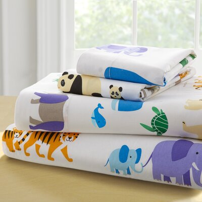 Olive Kids Endangered Animals 210 Thread Count 100% Cotton Sheet Set Size: Full