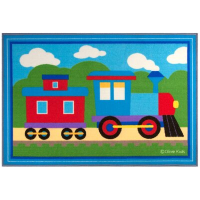 Olive Kids Trains, Planes, Trucks  Area Rug Rug Size: 5 x 7