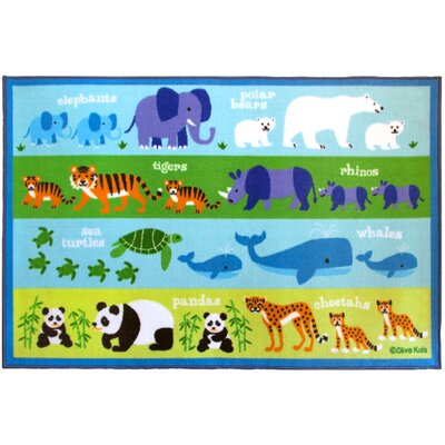 Olive Kids Endangered Animals Area Rug Rug Size: 33 x 410