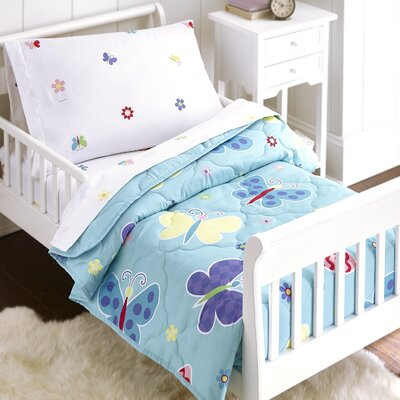 Butterfly Garden 4 Piece Toddler Bedding Set 88692