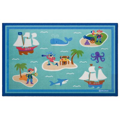 Pirates Area Rug Rug Size: 5 x 7