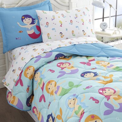 Mermaids Bed-In-a-Bag Set Size: Full