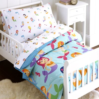 Mermaids 4 Piece Toddler Bedding Set 88694