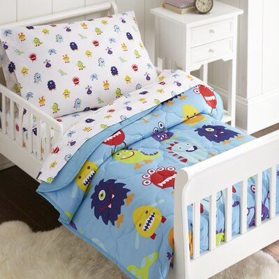 Monsters 4 Piece Toddler Bedding Set 88695